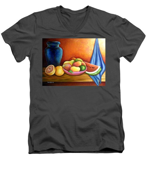 Still Life Of Fruits Men's V-Neck T-Shirt