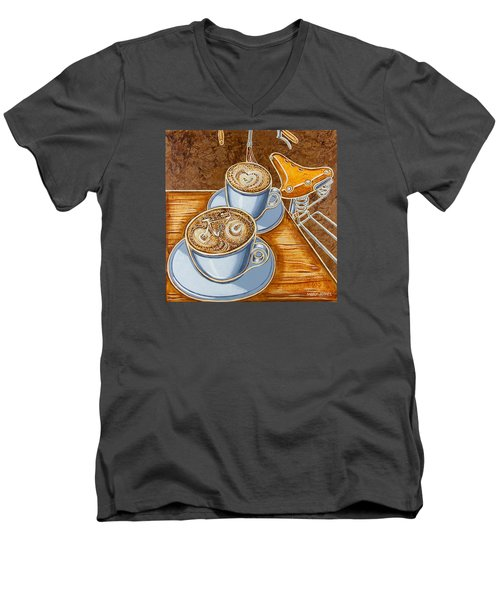 Still Life With Bicycle Men's V-Neck T-Shirt