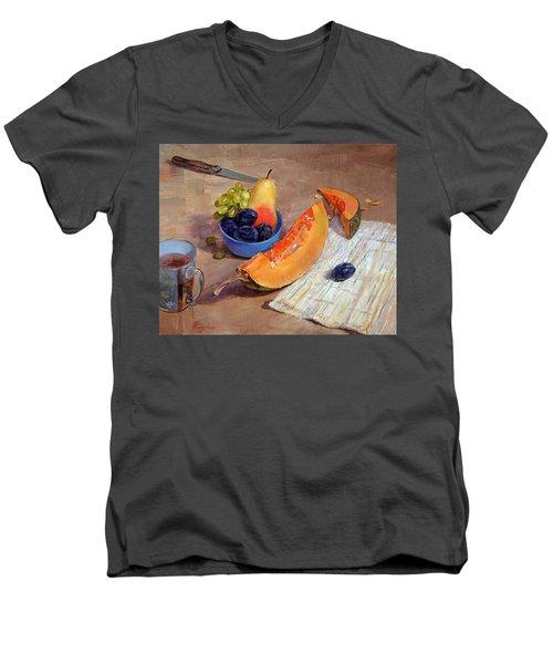 Still Life With Pumpkin Men's V-Neck T-Shirt