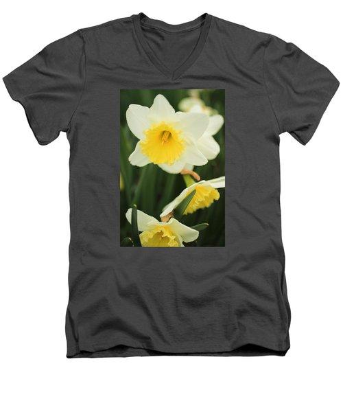 Men's V-Neck T-Shirt featuring the photograph Stillness by Julie Andel