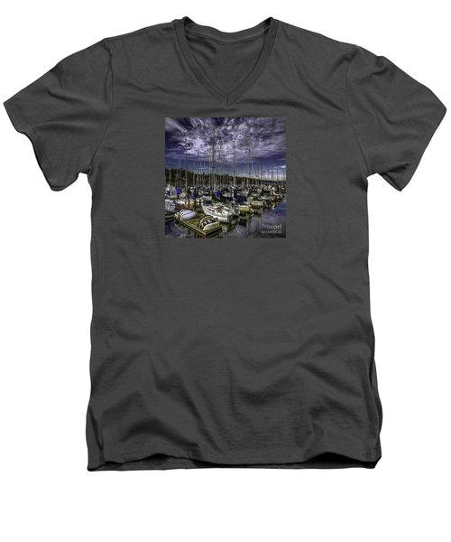 Men's V-Neck T-Shirt featuring the photograph Stirring The Sky by Jean OKeeffe Macro Abundance Art