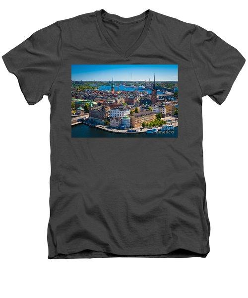 Stockholm From Above Men's V-Neck T-Shirt