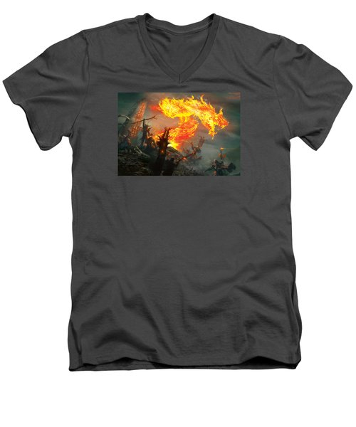 Stoke The Flames Men's V-Neck T-Shirt