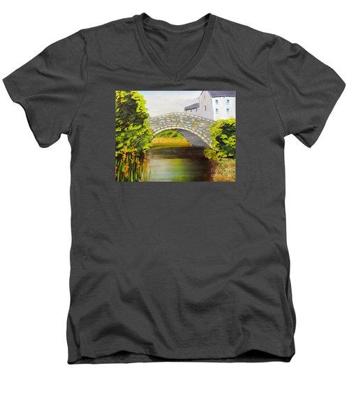Stone Bridge At Burrowford Uk Men's V-Neck T-Shirt