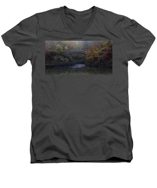 Stone Bridge In Autumn II Men's V-Neck T-Shirt