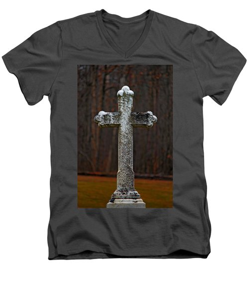 Stone Cross Men's V-Neck T-Shirt