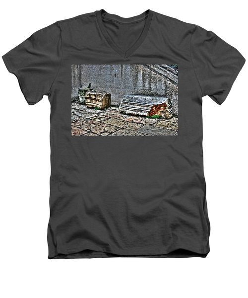 Men's V-Neck T-Shirt featuring the photograph Holy Rocks In Israel by Doc Braham