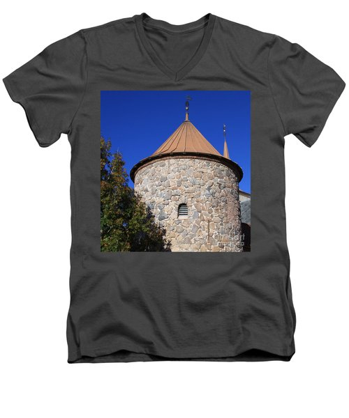 Stone Tower Men's V-Neck T-Shirt