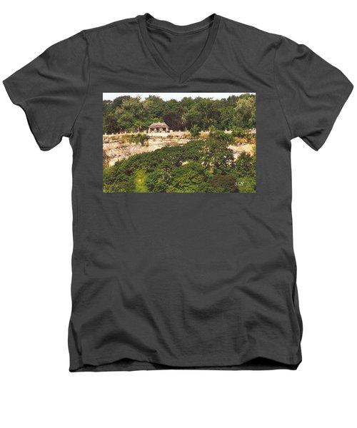 Stone Wall With Gazebo Men's V-Neck T-Shirt