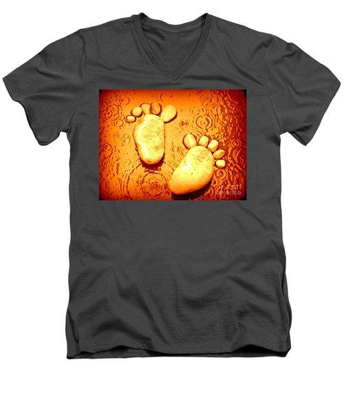 Stoney In The Rain Men's V-Neck T-Shirt by Clare Bevan