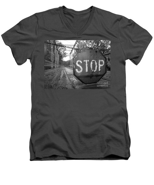 Stop Sign Men's V-Neck T-Shirt