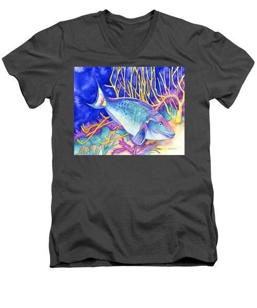 Stoplight Parrotfish Men's V-Neck T-Shirt