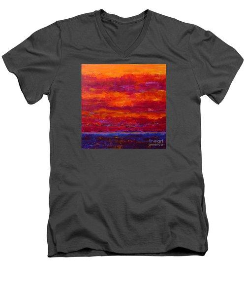 Storm Clouds Sunset Men's V-Neck T-Shirt by Gail Kent