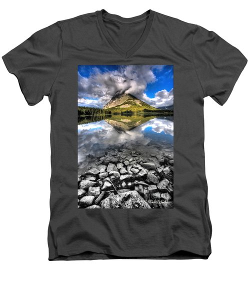 Storm Mountain II Men's V-Neck T-Shirt by David Andersen