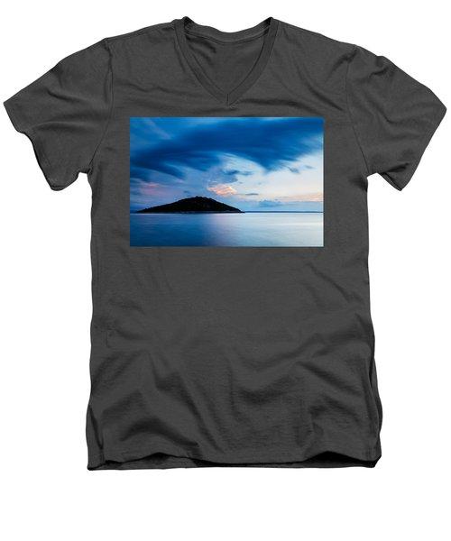 Storm Moving In Over Veli Osir Island At Sunrise Men's V-Neck T-Shirt