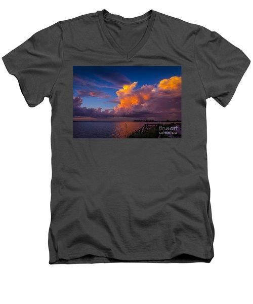 Storm On Tampa Men's V-Neck T-Shirt