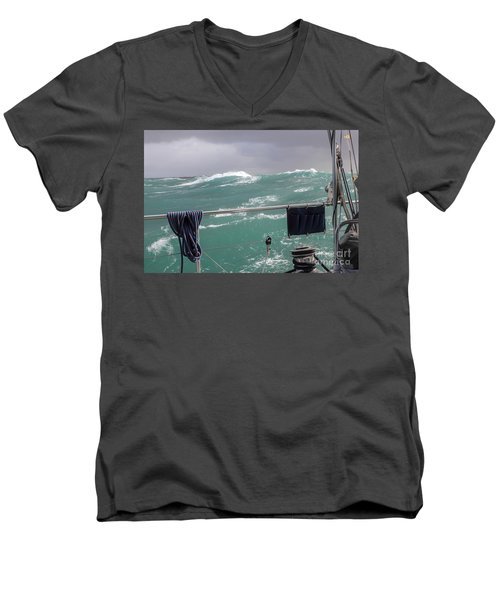 Storm On Tasman Sea Men's V-Neck T-Shirt