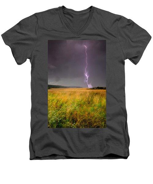 Storm Over The Wheat Fields Men's V-Neck T-Shirt