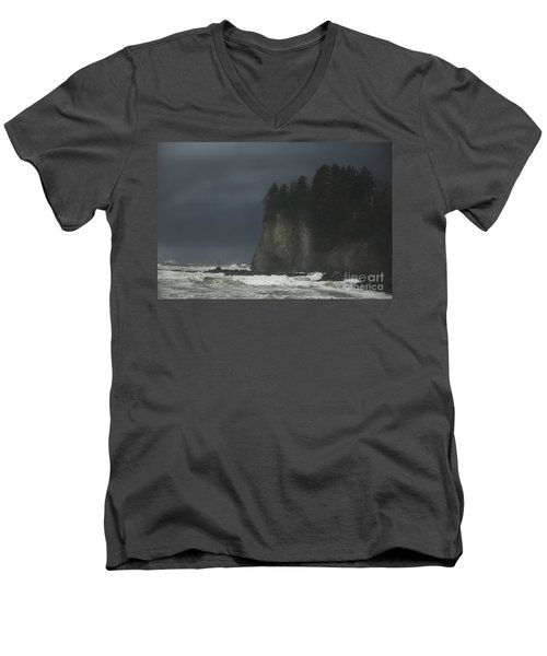 Storm At Lapush Washington State Men's V-Neck T-Shirt