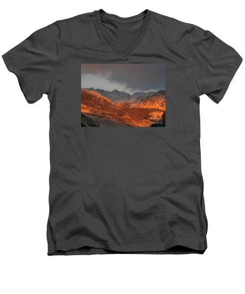 Men's V-Neck T-Shirt featuring the photograph Stormy Monday by Fiona Kennard