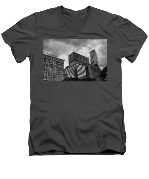Men's V-Neck T-Shirt featuring the photograph Stormy Skies by Miguel Winterpacht
