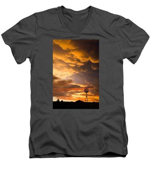 Stormy Sunrise Men's V-Neck T-Shirt