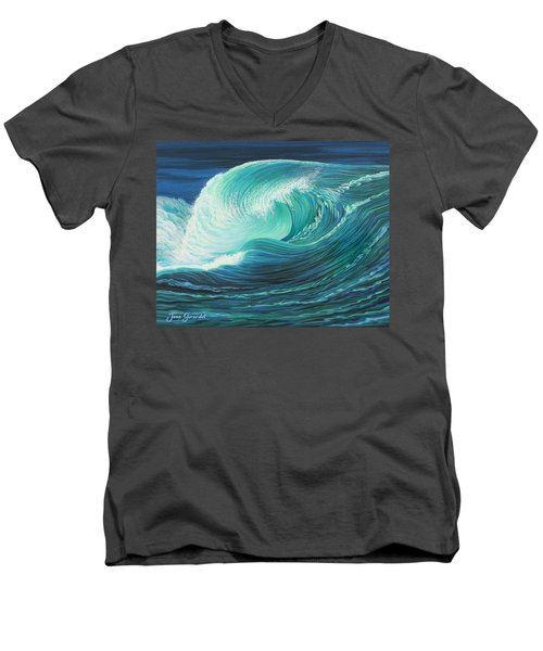 Stormy Wave Men's V-Neck T-Shirt