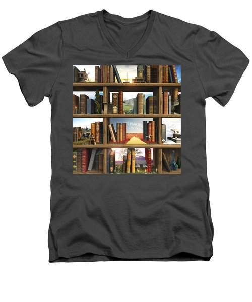 Storyworld Men's V-Neck T-Shirt by Cynthia Decker