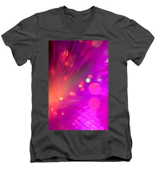 Men's V-Neck T-Shirt featuring the photograph Strange Condition by Dazzle Zazz