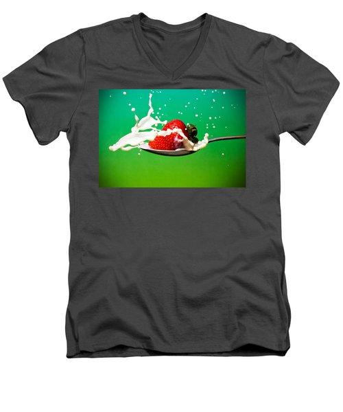 Strawberry Milk Men's V-Neck T-Shirt