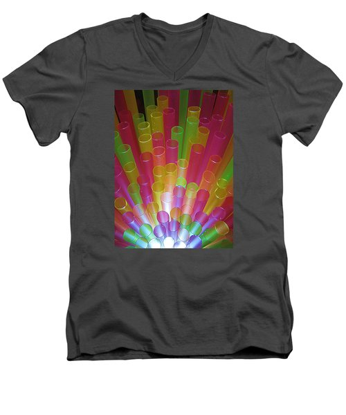 Men's V-Neck T-Shirt featuring the photograph Straws II by John King