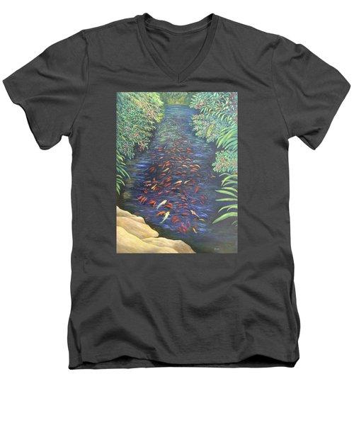 Stream Of Koi Men's V-Neck T-Shirt