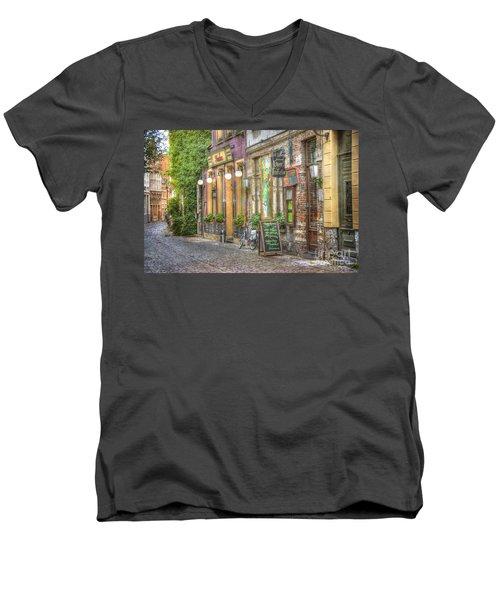 Street In Ghent Men's V-Neck T-Shirt