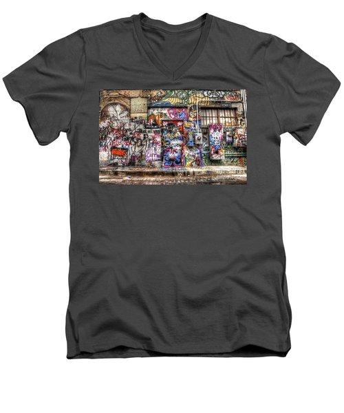 Street Life Men's V-Neck T-Shirt