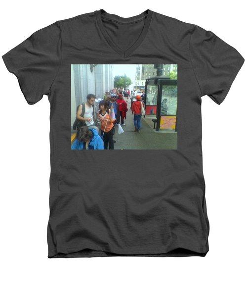 Street Scene Men's V-Neck T-Shirt