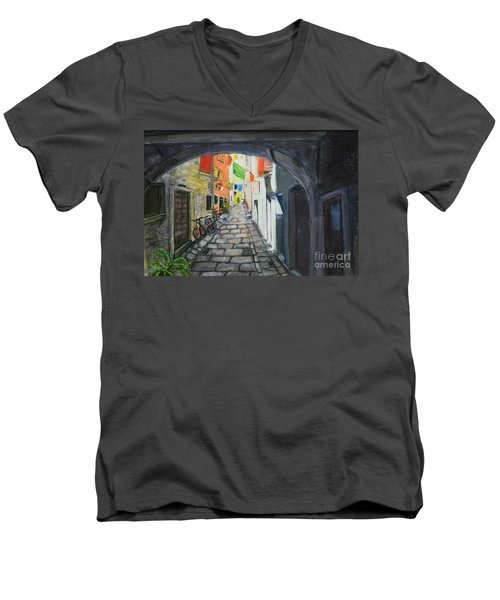Street View 2 From Pula Men's V-Neck T-Shirt