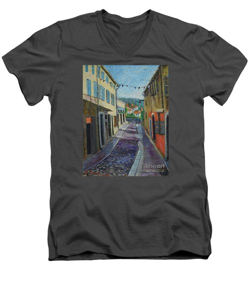 Street View From Provence Men's V-Neck T-Shirt