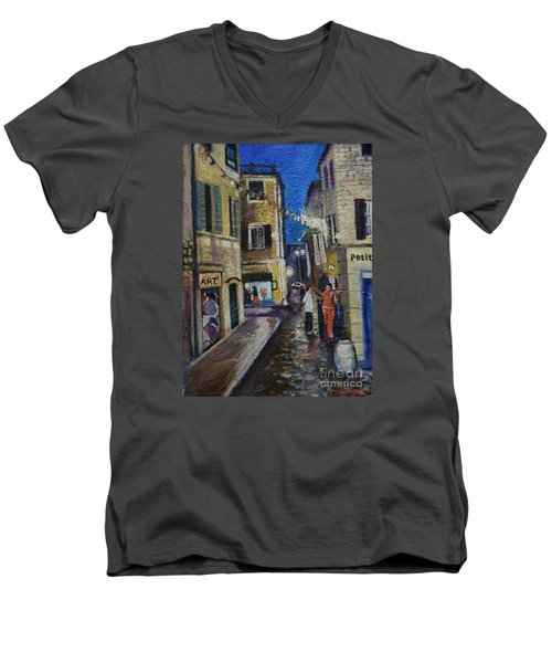 Street View Provence 2 Men's V-Neck T-Shirt