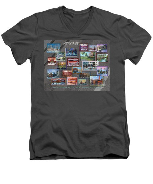 Streets Full Of Memories Men's V-Neck T-Shirt by Rita Brown