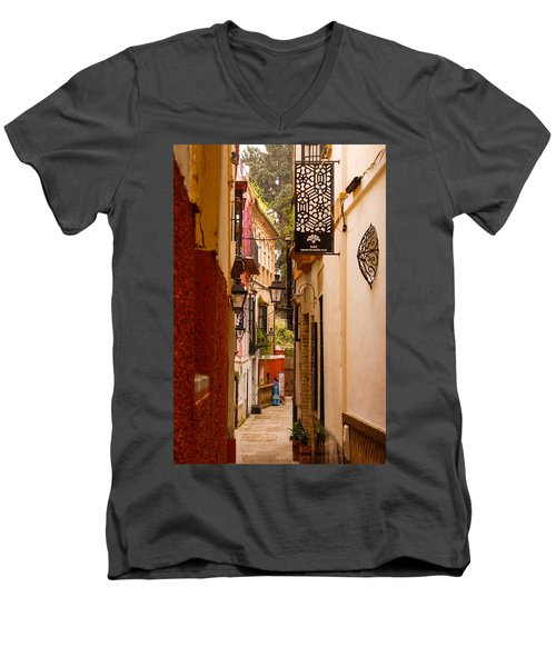 Streets Of Seville  Men's V-Neck T-Shirt