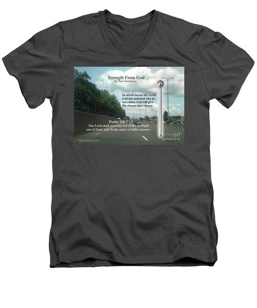 Strength From God Men's V-Neck T-Shirt