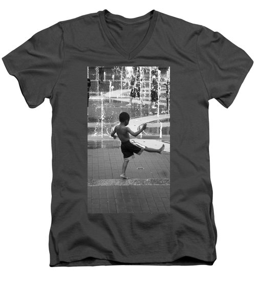 Strike A Pose Men's V-Neck T-Shirt