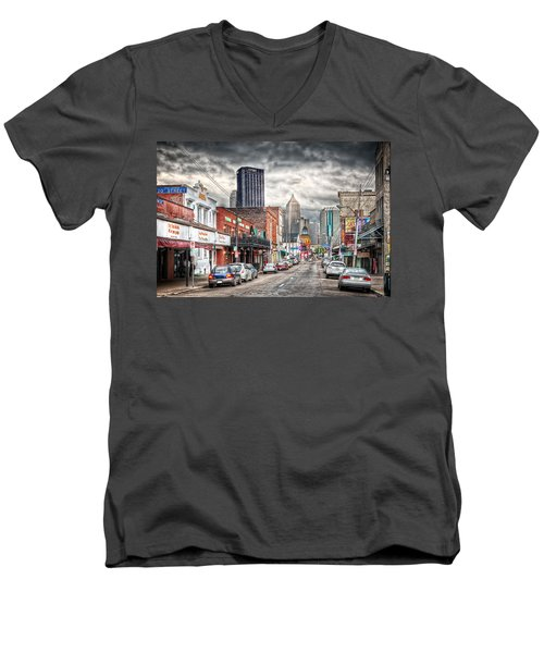 Strip District Pittsburgh Men's V-Neck T-Shirt
