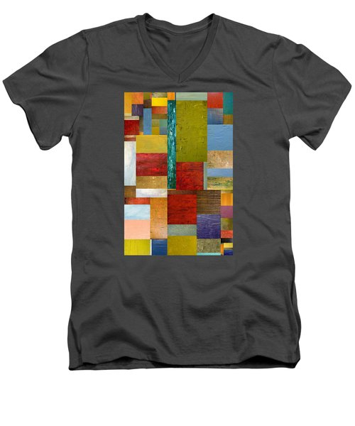 Strips And Pieces Lll Men's V-Neck T-Shirt