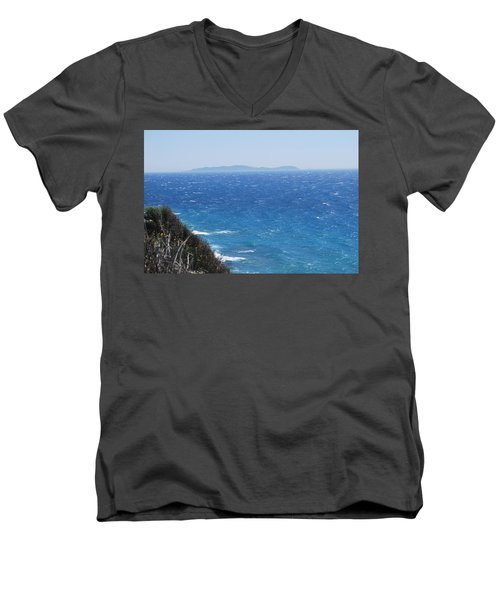 Men's V-Neck T-Shirt featuring the photograph Strong Mistral by George Katechis