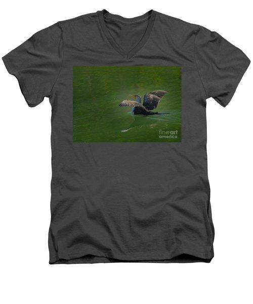Strutting Cormorant Men's V-Neck T-Shirt