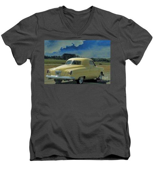 Studebaker Starlight Coupe Men's V-Neck T-Shirt by Janette Boyd