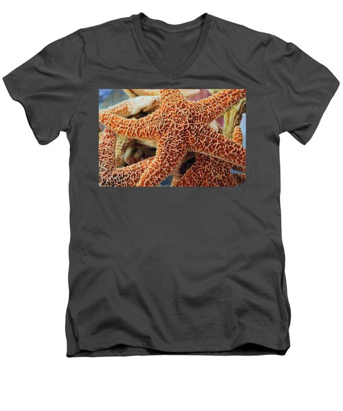 Study Of A Starfish Men's V-Neck T-Shirt by Tikvah's Hope