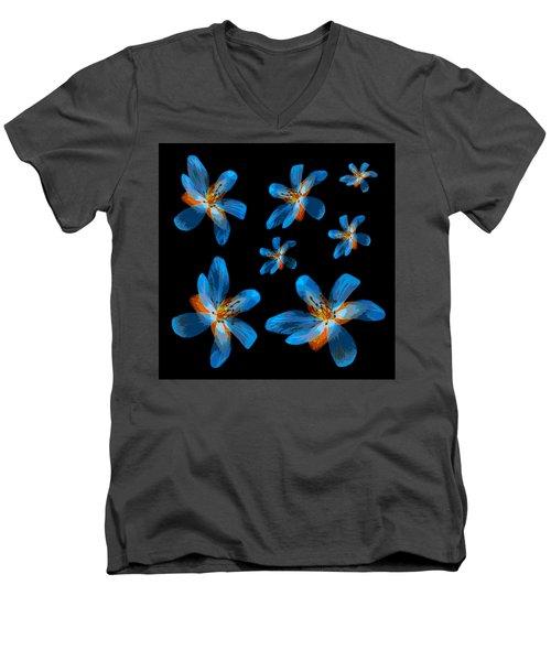 Study Of Seven Flowers #2 Men's V-Neck T-Shirt by Ari Salmela