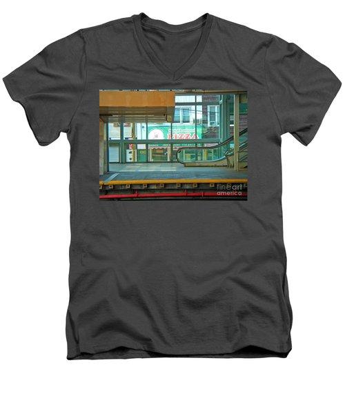 Subway Pizza Men's V-Neck T-Shirt
